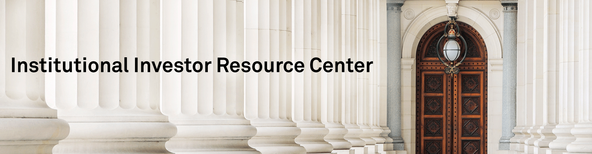 Institutional Investor Resource Center